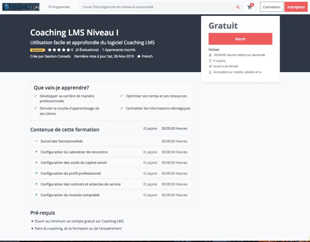 Plateforme E-learning